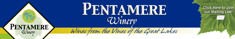 Pentamere logo: Wines from the Vines of the Great Lakes