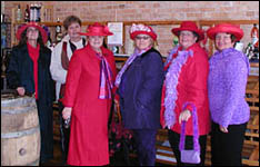 The Red Hat Ladies at Pentamere